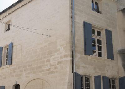 Rénovation de façade au centre ville de Villeneuve-les-Avignon