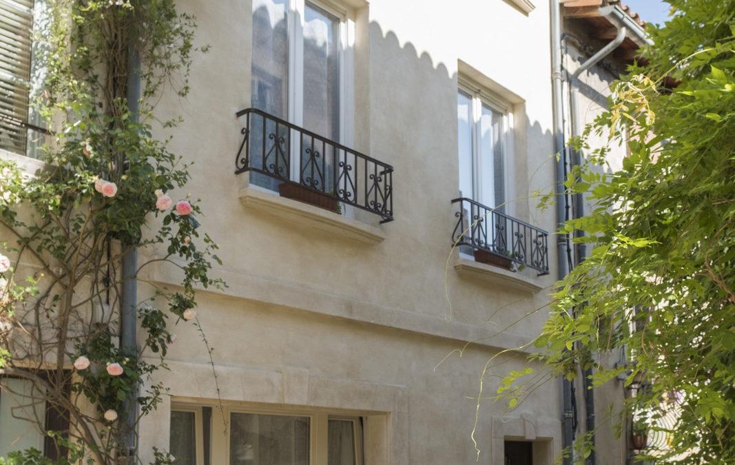 Rénovation de façade au centre ancien de Villeneuve-les-Avignon