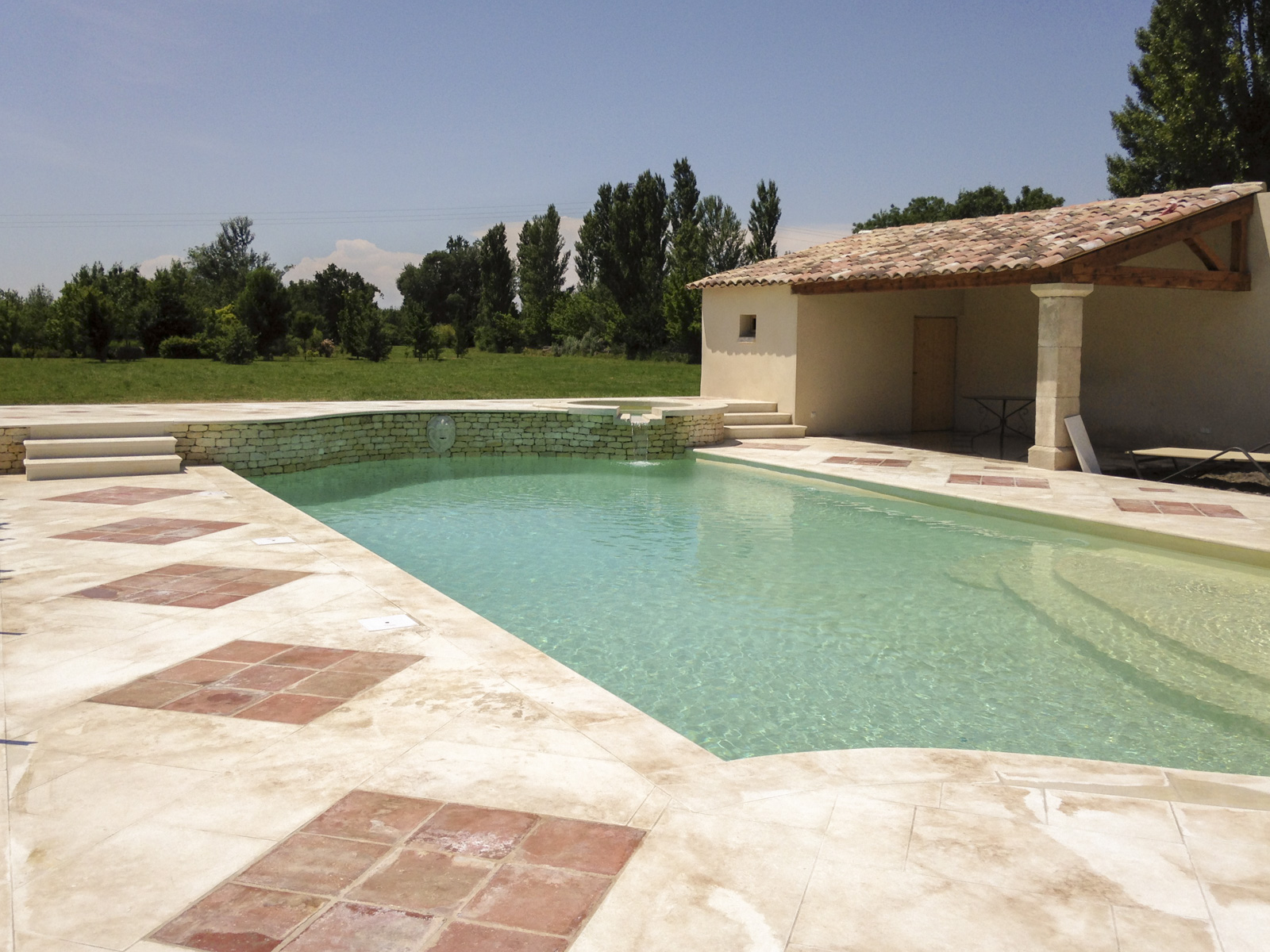 Aménagement extérieur de piscine - Leni Llorca - Restauration et ...